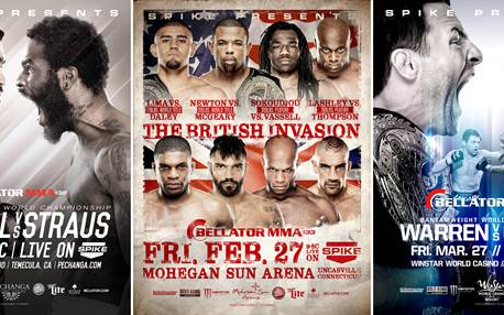 Image for Bellator announces first three events of 2015