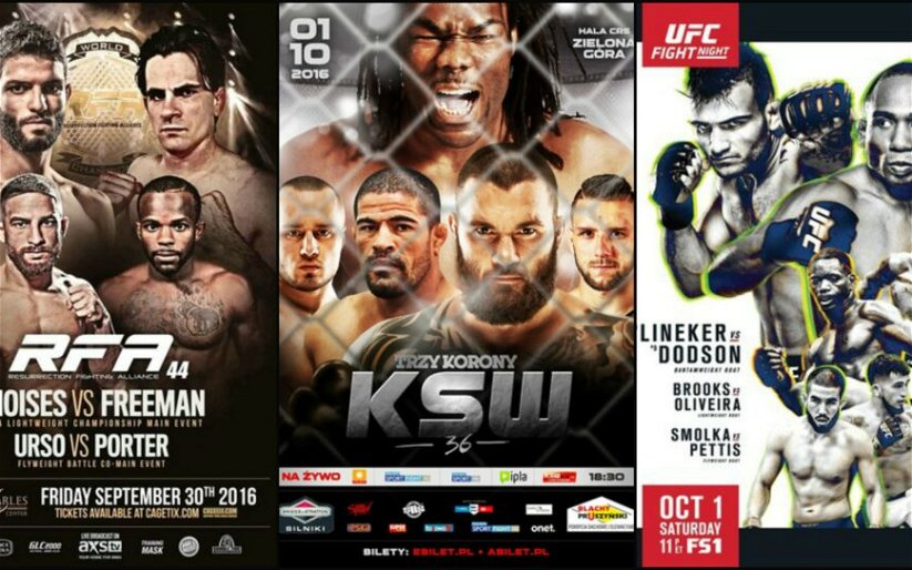 Image for MMA This Weekend (September 30-October 4)