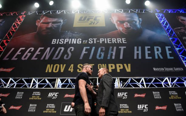 Image for Fighters and Trainers make picks for St-Pierre vs Bisping