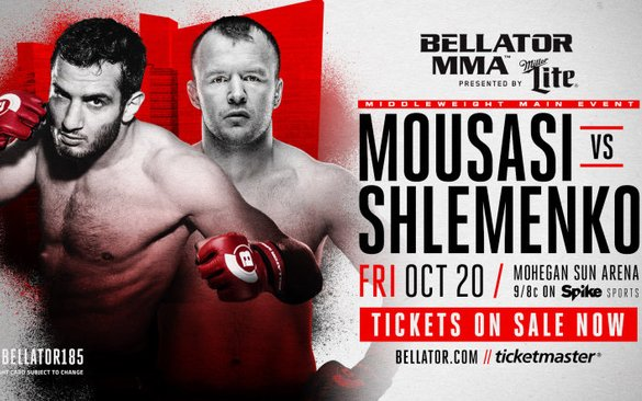 Image for Bellator 185: Mousasi vs. Shlemenko main card updates and results