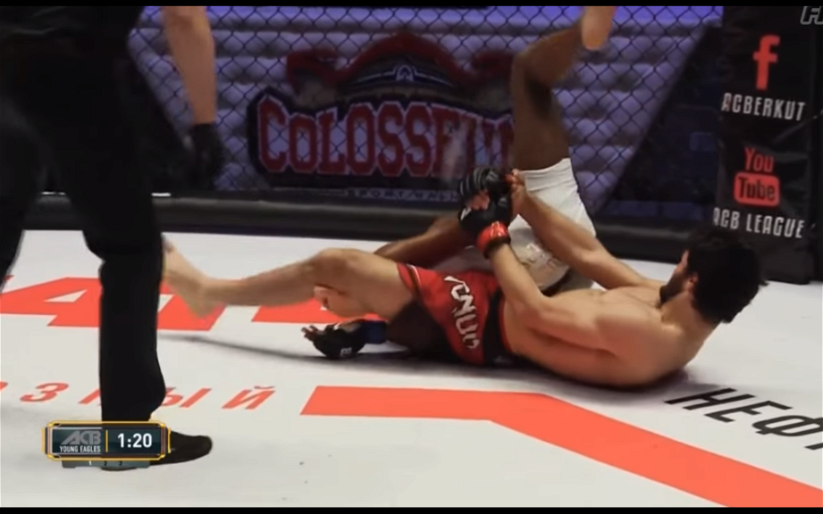Image for MMASucka's Submission of the Month for January 2018: Makhazhiev forces Lapilus to tap with a nasty calf-slicer