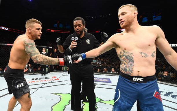 Image for MMASucka's Fight of the Month for April 2018: Dustin Poirier and Justin Gaethje go to war in Arizona