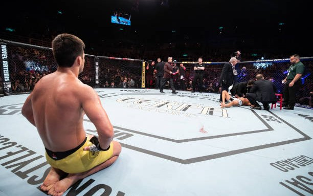 Image for MMASucka's Knockout of the Month for May 2018: Lyoto Machida turns back time for another frontkick KO