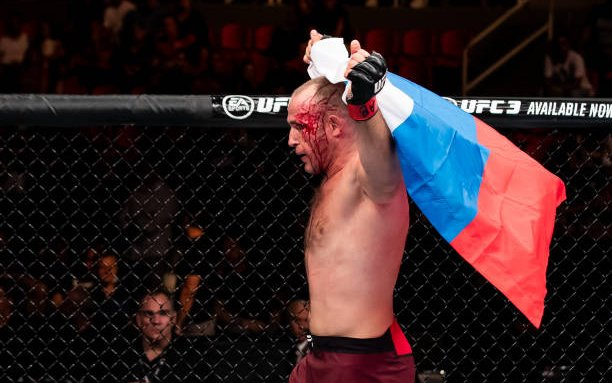 Image for MMASucka's Submission of the Month for May 2018: Alexey Oleynik secures the 11th Ezekiel Choke finish of his career