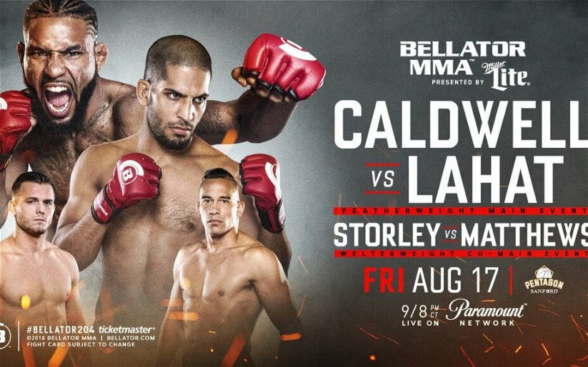 Image for Bellator 204 topped by Darrion Caldwell at featherweight, Logan Storley