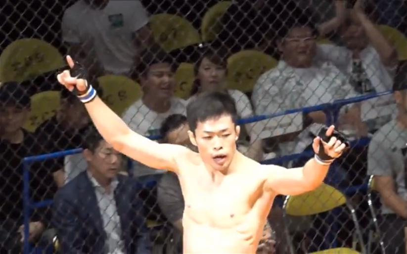 Image for MMASucka's Submission of the Month for June 2018: Satoshi Yamasu taps the reigning champion after a barrage of vicious soccer kicks