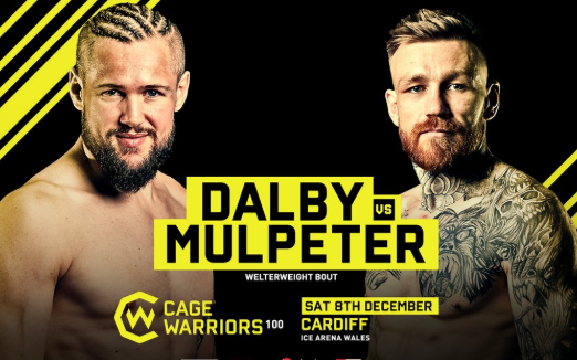Image for Nicolas Dalby vs. Philip Mulpeter Added to Cage Warriors 100