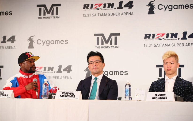 Image for RIZIN issues apology regarding Tenshin/Mayweather, plans 'clear announcement' next week