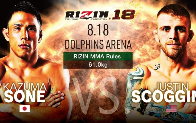 Image for RIZIN Announces Four New Fights for RIZIN 18; Adds Scoggins, Hamasaki, and Brooks