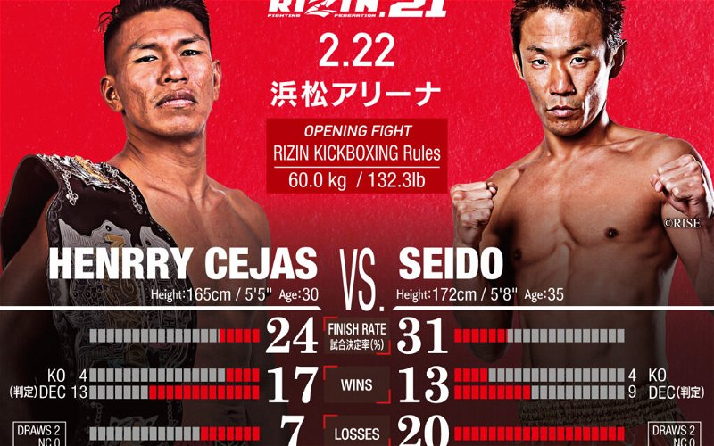 """Image for RIZIN 21 kickboxer Henrry Cejas calls opponent Seido a """"stepping stone"""""""