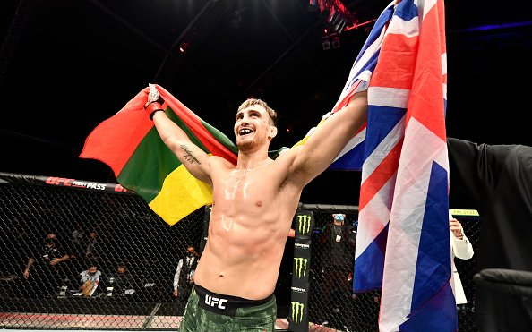 """Image for Modestas Bukauskas on UFC debut """"If you're not standing up, you're not ready to fight"""""""