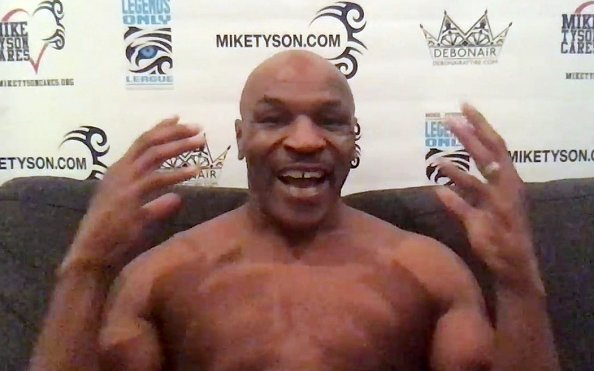 Image for Mike Tyson and Roy Jones Jr. Weigh in Ahead of Tomorrow's Fight