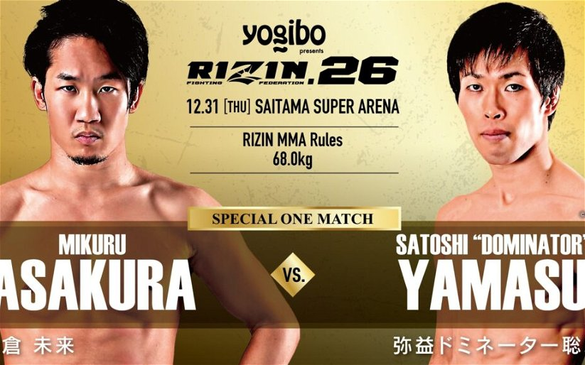Image for RIZIN 26 gets Four Additional Fights Including Kickboxing Match
