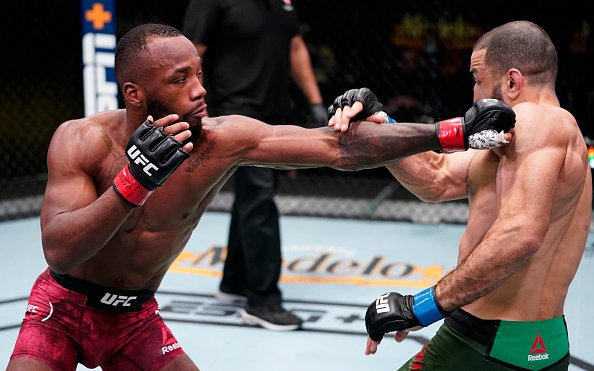 Image for Leon Edwards and Belal Muhammad Ends With an Eye Poke
