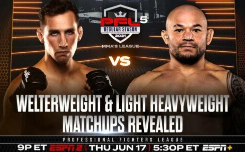 Image for Rory MacDonald Takes on Gleison Tibau in PFL 5 2021 Main Event