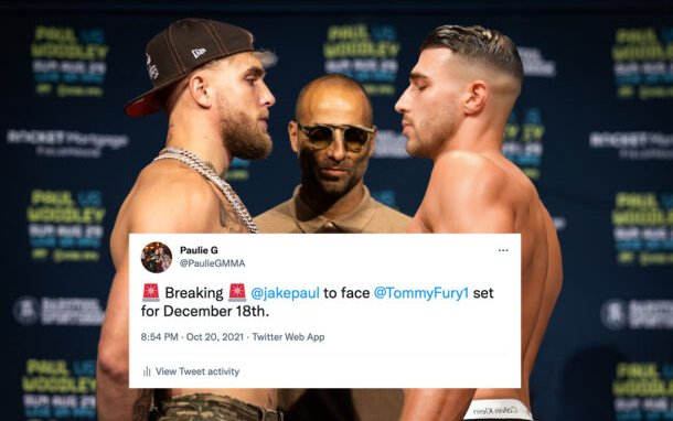 Image for Jake Paul set to meet Tommy Fury December 18, Official Announcement Soon